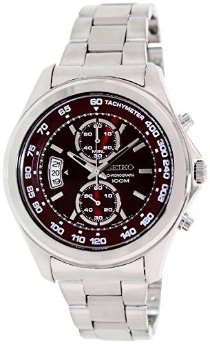 セイコー 腕時計 メンズ SNN253P1 【送料無料】Seiko Red Dial Chronograph Stainless Steel Mens Watch SNN253セイコー 腕時計 メンズ SNN253P1