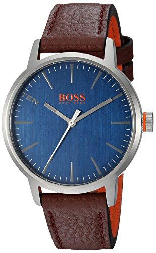 ヒューゴボス 高級腕時計 メンズ 1550057 【送料無料】HUGO BOSS Men's Copenhagen Stainless Steel Quartz Watch with Leather Strap, Brown, 20 (Model: 1550057)ヒューゴボス 高級腕時計 メンズ 1550057
