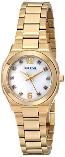ブローバ 腕時計 レディース 97P109 【送料無料】Bulova Women's 97P109 Diamond Gallery Analog Display Japanese Quartz Yellow Watchブローバ 腕時計 レディース 97P109