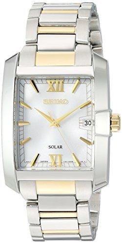 セイコー 腕時計 メンズ SNE463 【送料無料】Seiko Men's Solar Diamond Japanese-Quartz Watch with Two-Tone-Stainless-Steel Strap, 20 (Model: SNE463)セイコー 腕時計 メンズ SNE463