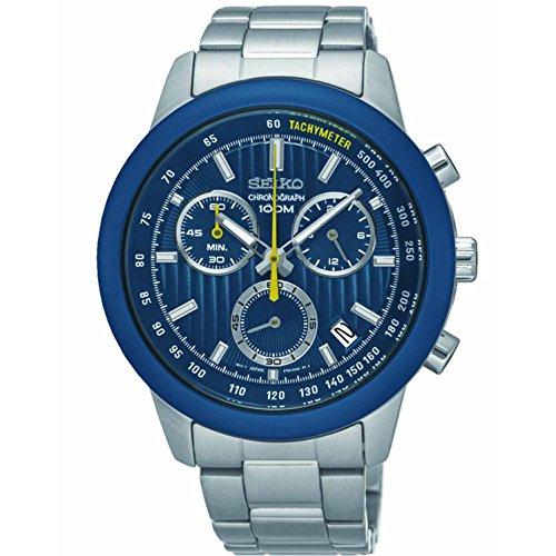 セイコー 腕時計 メンズ SSB207 【送料無料】Seiko Men's 40mm Steel Bracelet & Case Quartz Blue Dial Analog Watch SSB207セイコー 腕時計 メンズ SSB207