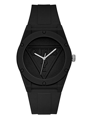 ゲス GUESS 腕時計 レディース U0979L2 GUESS Iconic Black Retro Pop Logo Stain Resistant Silicone Watch. Color: Black (Model: U0979L2)ゲス GUESS 腕時計 レディース U0979L2