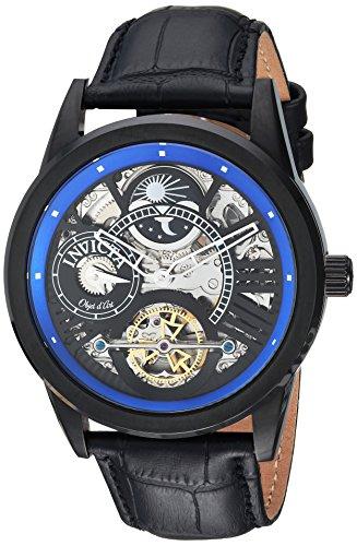 インヴィクタ インビクタ 腕時計 メンズ 25262 【送料無料】Invicta Men's Objet D Art Stainless Steel Automatic-self-Wind Watch with Leather Calfskin Strap, Black, 24 (Model: 25262)インヴィクタ インビクタ 腕時計 メンズ 25262
