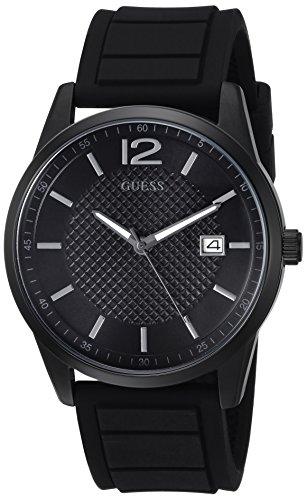 腕時計 ゲス GUESS メンズ U0991G3 【送料無料】GUESS Men's Stainless Steel Casual Silicone Watch, Color: Black (Model: U0991G3)腕時計 ゲス GUESS メンズ U0991G3