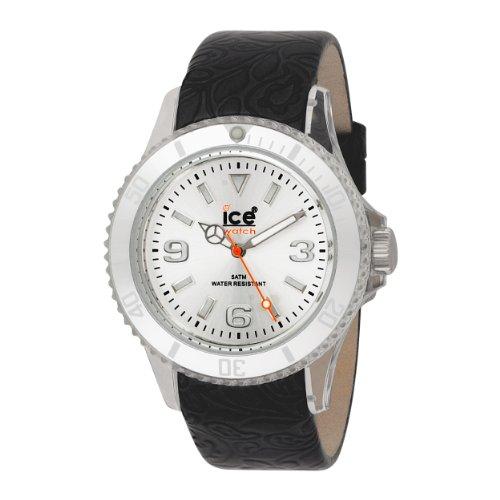 アイスウォッチ 腕時計 レディース かわいい FL.BK.U.L.09 Ice-Watch Unisex FL.BK.U.L.09 Flower Collection Black Leather Strap Watchアイスウォッチ 腕時計 レディース かわいい FL.BK.U.L.09
