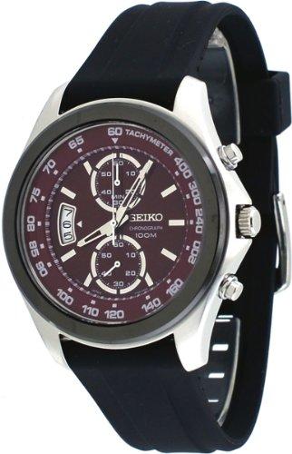 セイコー 腕時計 メンズ SNN263P1 Seiko Chronograph Red Dial Black Rubber Mens Watch SNN263セイコー 腕時計 メンズ SNN263P1