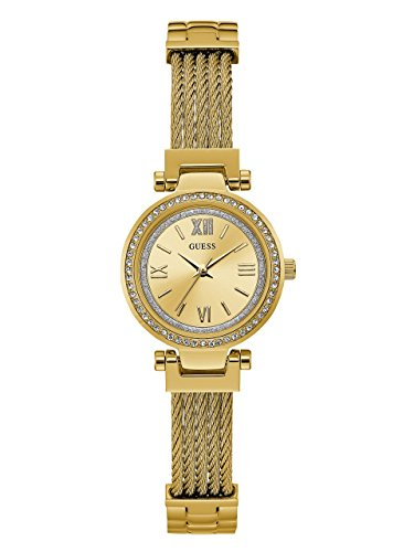ゲス GUESS 腕時計 レディース U1009L2 GUESS Gold-Tone Stainless Steel Wire Bangle Bracelet Watch, Color: Gold-Tone (Model: U1009L2)ゲス GUESS 腕時計 レディース U1009L2