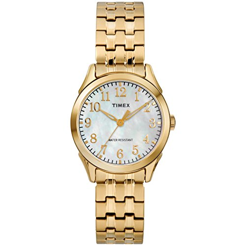 腕時計 タイメックス レディース TW2R48500 【送料無料】Timex Women's TW2R48500 Briarwood Gold-Tone/MOP Stainless Steel Expansion Band Watch腕時計 タイメックス レディース TW2R48500
