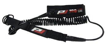サーフィン リーシュコード マリンスポーツ 夏のアクティビティ特集 Pro-Lite SUP Coil Race/Knee Leash-10' Blackサーフィン リーシュコード マリンスポーツ 夏のアクティビティ特集