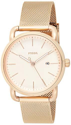 フォッシル 腕時計 レディース ES4333 Fossil Women's The Commuter Quartz Stainless Steel Mesh Casual Watch Strap, Rose Gold, 16 (Model: ES4333)フォッシル 腕時計 レディース ES4333