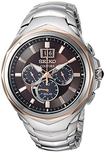 セイコー 腕時計 メンズ SSC628 【送料無料】Seiko Men's COUTURA Chronograph Japanese-Quartz Watch with Stainless-Steel Strap, Two Tone, 22 (Model: SSC628)セイコー 腕時計 メンズ SSC628