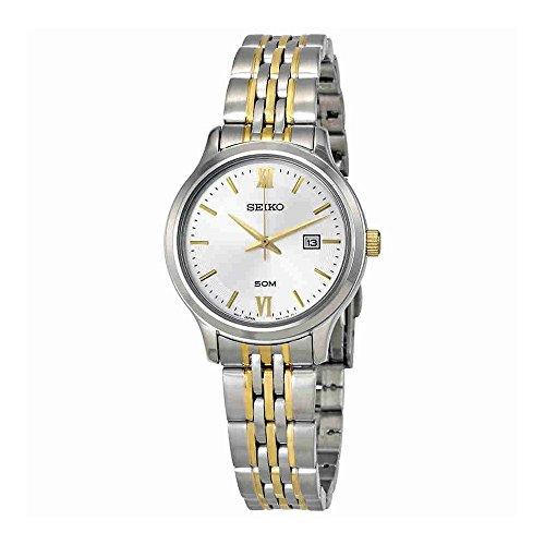 セイコー 腕時計 レディース SUR705P1 Seiko Women's 30mm Two Tone Steel Bracelet Steel Case Quartz Silver-Tone Dial Analog Watch SUR705P1セイコー 腕時計 レディース SUR705P1