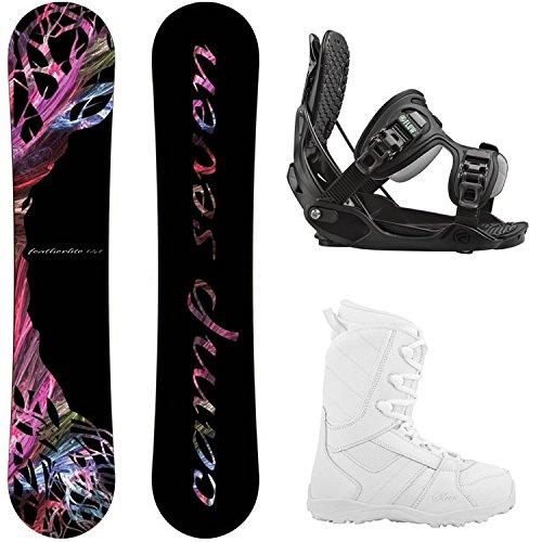 スノーボード ウィンタースポーツ キャンプセブン 2017年モデル2018年モデル多数 Flow Camp Seven Featherlite Women's Complete Snowboard Package (147 cm, Boot Size 8)…スノーボード ウィンタースポーツ キャンプセブン 2017年モデル2018年モデル多数