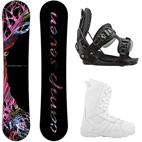 スノーボード ウィンタースポーツ キャンプセブン 2017年モデル2018年モデル多数 Flow Camp Seven Featherlite Women's Complete Snowboard Package (144 cm, Boot Size 8)…スノーボード ウィンタースポーツ キャンプセブン 2017年モデル2018年モデル多数