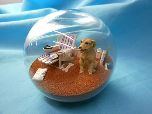 スノーグローブ 雪 置物 インテリア 海外モデル PDS4-24B-LC Beachball Sandglobe Puppy Dog Sphere, 4 Inch Diameter, Yellow Labスノーグローブ 雪 置物 インテリア 海外モデル PDS4-24B-LC