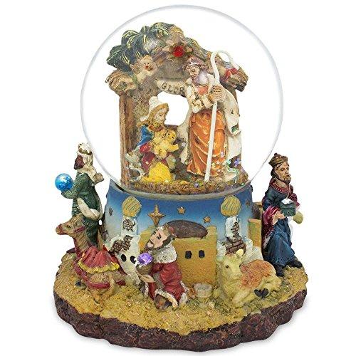 スノーグローブ 雪 置物 インテリア 海外モデル PMW8NAL 【送料無料】BestPysanky Kings Holding Gifts Nativity Scene Musical Snow Globeスノーグローブ 雪 置物 インテリア 海外モデル PMW8NAL