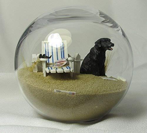 スノーグローブ 雪 置物 インテリア 海外モデル PDS4-24A-LC Beachball Sandglobe Puppy Dog Sphere, 4 Inch Diameter, Black Labスノーグローブ 雪 置物 インテリア 海外モデル PDS4-24A-LC