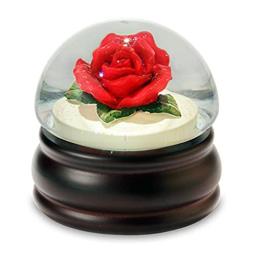 スノーグローブ 雪 置物 インテリア 海外モデル 842970049395 【送料無料】The San Francisco Music Box Company Red Rose Mushroom Water Globeスノーグローブ 雪 置物 インテリア 海外モデル 842970049395