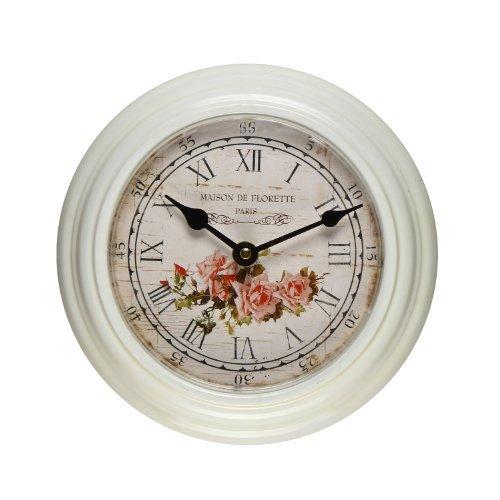 壁掛け時計 インテリア インテリア 海外モデル アメリカ CK0061 Adeco White Iron Vintage-Inspired Circular Wall Hanging Clock壁掛け時計 インテリア インテリア 海外モデル アメリカ CK0061