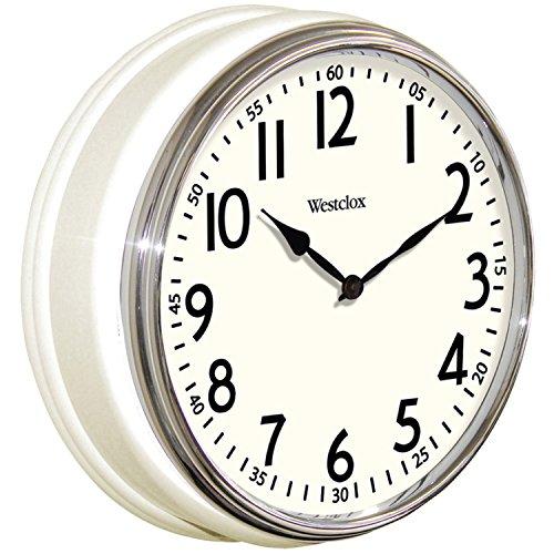 壁掛け時計 インテリア インテリア 海外モデル アメリカ 32041W 【送料無料】Westclox 32041W Round Vintage Kitchen Classic Clock, 12-Inch, White壁掛け時計 インテリア インテリア 海外モデル アメリカ 32041W