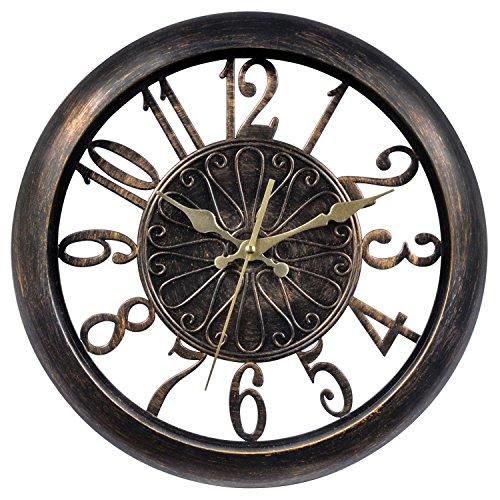 壁掛け時計 インテリア インテリア 海外モデル アメリカ 75113 Chaney Instruments 75113 Open-Frame Antiqued Wall Clock, 14