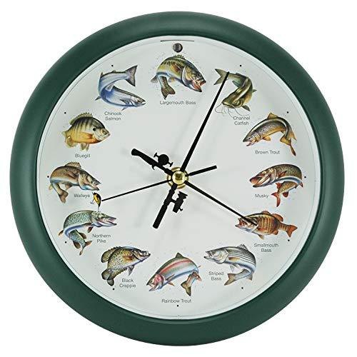 壁掛け時計 インテリア インテリア 海外モデル アメリカ AX-AY-ABHI-22453 【送料無料】Mark Feldstein Splashing Gamefish Hourly Fishing Sounds Wall/Desk Clock, 8 Inch壁掛け時計 インテリア インテリア 海外モデル アメリカ AX-AY-ABHI-22453