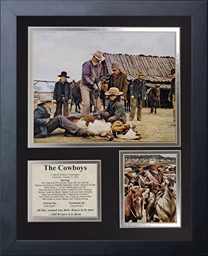 壁飾り インテリア タペストリー 壁掛けオブジェ 海外デザイン 16615U Legends Never Die The Cowboys Movie Collage Photo Frame, 11