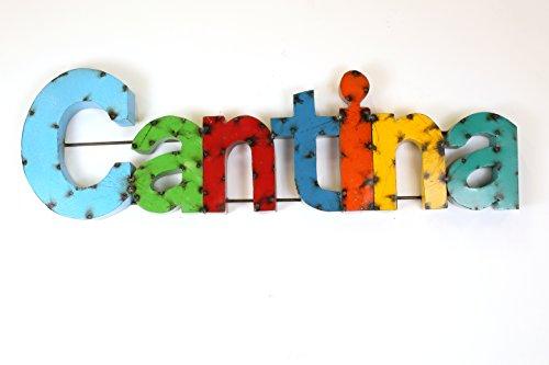 壁飾り インテリア タペストリー 壁掛けオブジェ 海外デザイン model Mexican Imports Colorful Cantina Sign-Recycled Metal Art-Bar-Man Cave壁飾り インテリア タペストリー 壁掛けオブジェ 海外デザイン model