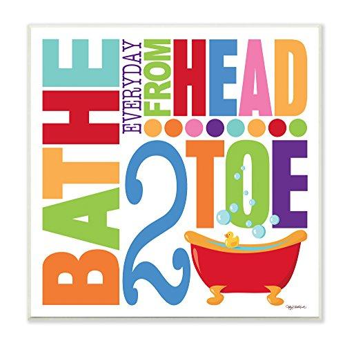 壁飾り インテリア タペストリー 壁掛けオブジェ 海外デザイン wrp-1082 【送料無料】Stupell Home D?cor Bathe Everyday Head 2 Toe Colorful Bath Art Wall Plaque, 12 x 0.5 x 12, Prou壁飾り インテリア タペストリー 壁掛けオブジェ 海外デザイン wrp-1082