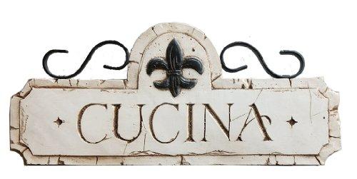壁飾り インテリア タペストリー 壁掛けオブジェ 海外デザイン 536B 【送料無料】Piazza Pisano Italian Cucina Kitchen Decor Sign壁飾り インテリア タペストリー 壁掛けオブジェ 海外デザイン 536B