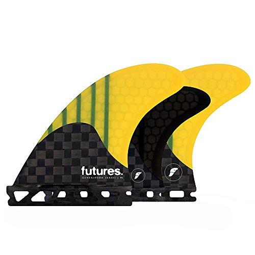 サーフィン フィン マリンスポーツ 【送料無料】Futures V2f4 5fin Set Generation Series Fin Small Yellowサーフィン フィン マリンスポーツ