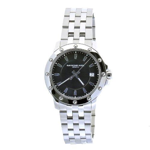 レイモンドウィル 腕時計 メンズ スイスの高級腕時計 5599-ST-20001 Raymond Weil Men's 5599-St-20001 Tango Stainless Steel Bracelet Black Stick Dial Date Watchレイモンドウィル 腕時計 メンズ スイスの高級腕時計 5599-ST-20001