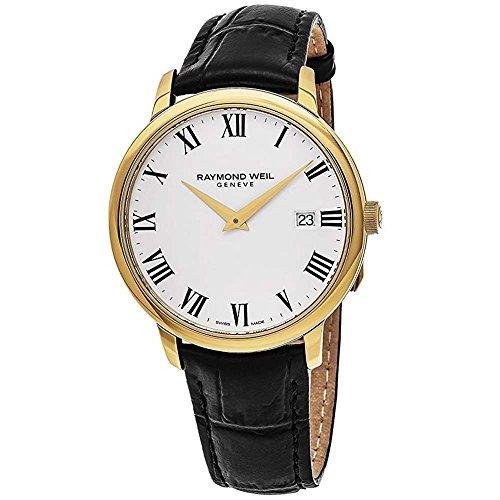 レイモンドウィル 腕時計 メンズ スイスの高級腕時計 Toccata 【送料無料】Raymond Weil White Dial Stainless Steel Leather Quartz Men's Watch 5488-PC-00300レイモンドウィル 腕時計 メンズ スイスの高級腕時計 Toccata