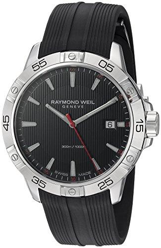 レイモンドウィル 腕時計 メンズ スイスの高級腕時計 8160-SR2-20001 【送料無料】Raymond Weil Men's Tango Stainless Steel Swiss-Quartz Watch with Rubber Strap, Black, 19 (Model: 8160-レイモンドウィル 腕時計 メンズ スイスの高級腕時計 8160-SR2-20001