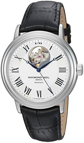 レイモンドウィル 腕時計 メンズ スイスの高級腕時計 2827-STC-00659 【送料無料】Raymond Weil Men's Maestro Swiss-Automatic Watch with Leather Strap, Black, 20 (Model: 2827-STC-00659)レイモンドウィル 腕時計 メンズ スイスの高級腕時計 2827-STC-00659