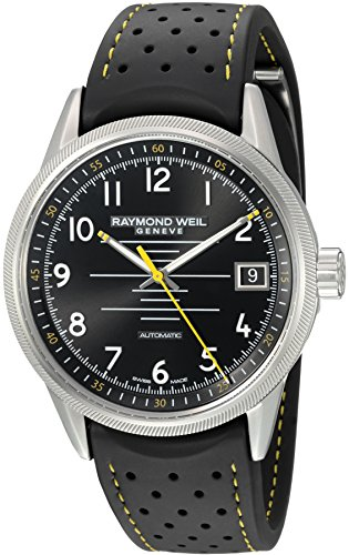 レイモンドウィル 腕時計 メンズ スイスの高級腕時計 2754-SR-05200 【送料無料】Raymond Weil Men's 'Freelancer' Swiss Automatic Stainless Steel and Rubber Casual Watch, Color:Black (Moレイモンドウィル 腕時計 メンズ スイスの高級腕時計 2754-SR-05200