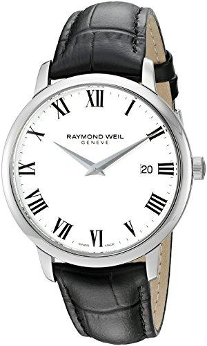 レイモンドウィル 腕時計 メンズ スイスの高級腕時計 5488-STC-00300 【送料無料】Raymond Weil Men's 'Toccata' Swiss Quartz Stainless Steel and Leather Watch, Color:Black (Model: 5488-レイモンドウィル 腕時計 メンズ スイスの高級腕時計 5488-STC-00300