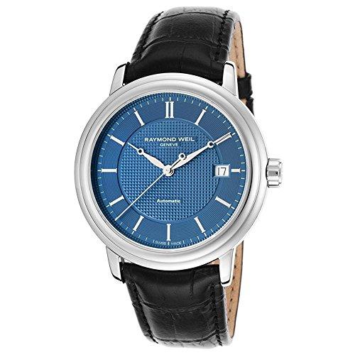 腕時計 レイモンドウィル メンズ スイスの高級腕時計 2837-STC-50001 【送料無料】Raymond Weil Maestro Blue Dial Stainless Steel Black Leather Automatic Mens Watch 2837-STC-50001腕時計 レイモンドウィル メンズ スイスの高級腕時計 2837-STC-50001