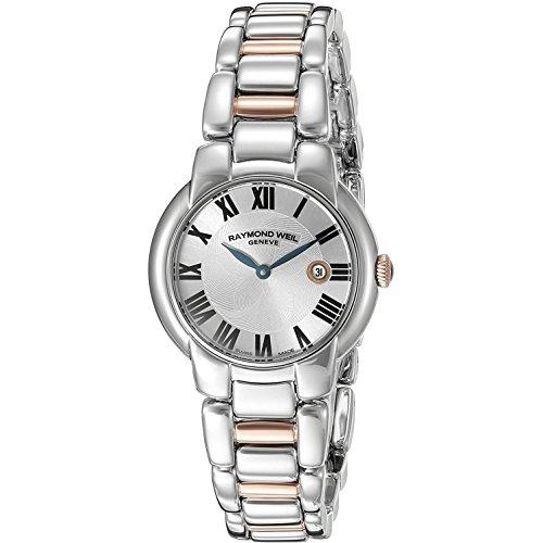 レイモンドウィル 腕時計 レディース スイスの高級腕時計 5229-S5-01659 【送料無料】Raymond Weil Jasmine Silver Dial Two Rose SS Quartz Ladies Watch 5229-S5-01659レイモンドウィル 腕時計 レディース スイスの高級腕時計 5229-S5-01659