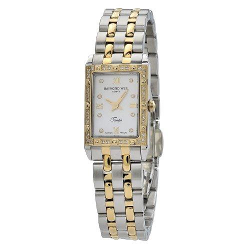 レイモンドウィル 腕時計 レディース スイスの高級腕時計 5971-SPS-00995 【送料無料】Raymond Weil Women's 5971-SPS-00995 Tango Rectangular Case Mother-Of-Pearl Dial Watchレイモンドウィル 腕時計 レディース スイスの高級腕時計 5971-SPS-00995