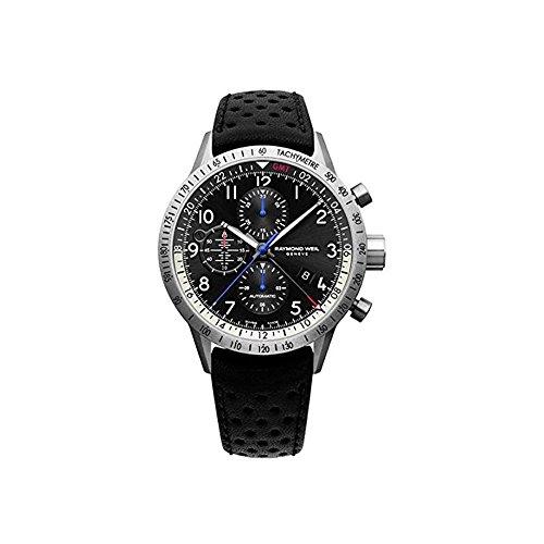 レイモンドウィル 腕時計 メンズ スイスの高級腕時計 7754-TIC-05209 【送料無料】Raymond Weil Men's Freelancer Stainless Steel Swiss-Automatic Watch with Leather Strap, Black, 22 (Modレイモンドウィル 腕時計 メンズ スイスの高級腕時計 7754-TIC-05209