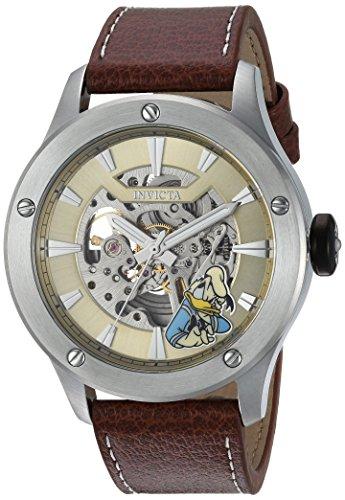 インヴィクタ インビクタ 腕時計 メンズ ディズニー 24958 Invicta Men's Stainless Steel Automatic-self-Wind Watch with Leather Calfskin Strap, Brown, 24 (Model: 24958)インヴィクタ インビクタ 腕時計 メンズ ディズニー 24958