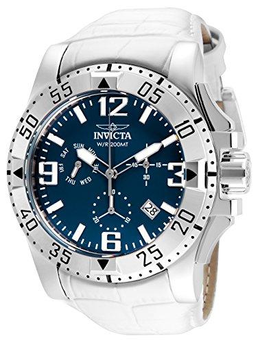 インヴィクタ インビクタ 腕時計 メンズ 24353 【送料無料】Invicta Men's Excursion Stainless Steel Quartz Watch with Leather Calfskin Strap, White, 35 (Model: 24353)インヴィクタ インビクタ 腕時計 メンズ 24353