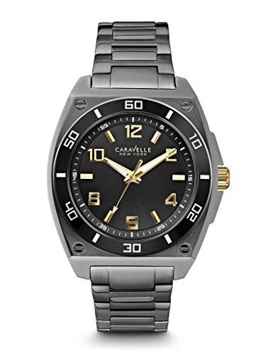 ブローバ 腕時計 メンズ 45A118 Caravelle New York by Bulova Men's 45A118 Japanese Quartz Black Watchブローバ 腕時計 メンズ 45A118