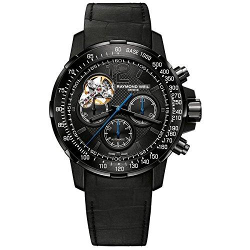 """レイモンドウィル 腕時計 メンズ スイスの高級腕時計 7830-BK-05207 【送料無料】Raymond Weil Black Dial SS Leather Chrono Automatic Men""""s Watch 7830-BK-05207レイモンドウィル 腕時計 メンズ スイスの高級腕時計 7830-BK-05207"""