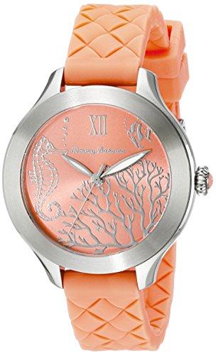 トミーバハマ 腕時計 レディース アメカジ アメリカ 10018338 【送料無料】Tommy Bahama Women's 10018338 Waikiki Reef Stainless Steel Watch with Orange Silicone Bandトミーバハマ 腕時計 レディース アメカジ アメリカ 10018338