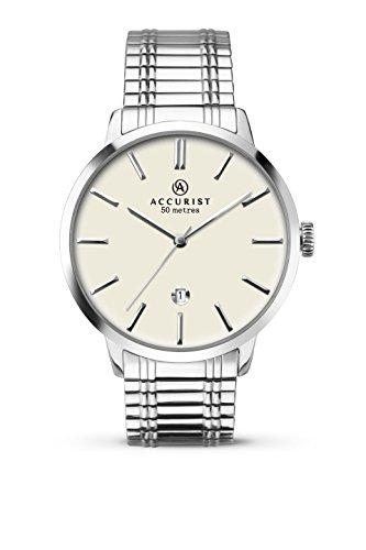 アキュリスト 腕時計 メンズ イギリス ロンドン 7134.01 Accurist Mens Quartz Cream Dial Expanding Bracelet Watch 7134アキュリスト 腕時計 メンズ イギリス ロンドン 7134.01