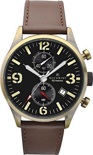 アキュリスト 腕時計 メンズ イギリス ロンドン 7023 【送料無料】Accurist Mens Brown Leather Strap Chronograph Watch with Date Display 7023アキュリスト 腕時計 メンズ イギリス ロンドン 7023