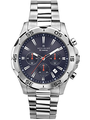 アキュリスト 腕時計 メンズ イギリス ロンドン 7024 【送料無料】Accurist Gents Blue Dial Analogue Chronograph Watch with Silver Stainless Steel Bracelet 7024アキュリスト 腕時計 メンズ イギリス ロンドン 7024