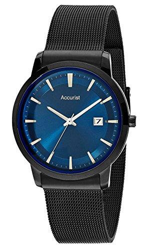 アキュリスト 腕時計 メンズ イギリス ロンドン MB899N Accurist MB899N Mens Blue Black Slim Bracelet Watchアキュリスト 腕時計 メンズ イギリス ロンドン MB899N